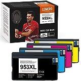 4 LEMERO SUPERX 953XL compatibile con cartucce d'inchiostro HP 953XL per HP Officejet 8702 7720 7730WF Pro 8210 8211 8218 8710 8717 8718 8719 8720 8721 8725 8 8 730 80 Stampante AIO 731 8740(BK/C/M/Y)