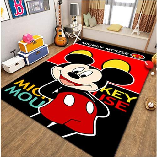 yinge Carpet Bedroom Living Room Bedside Cartoons Anime Mickey Classic Short Pile Children Game Rugs Nursery Sofa Home Decoration Floor Anti-Slip