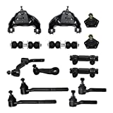 Detroit Axle - 14 Piece Front Suspension Kit - 2 Upper Control Arms, 2 Lower Ball Joints, ...