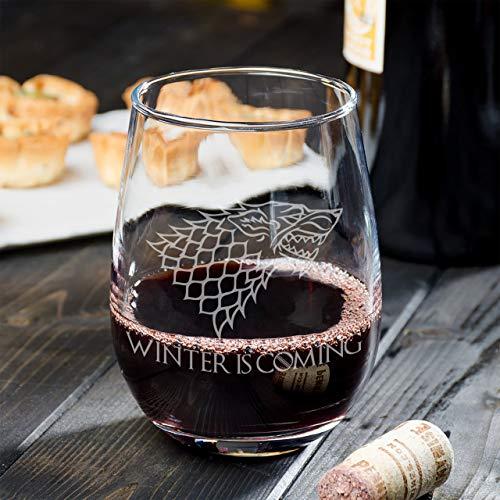 Winter komt wijn glas perfect cadeau voor mannen of verjaardag geschenken kreeg merchandise