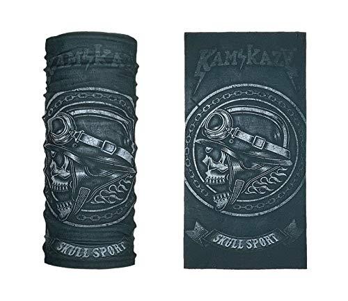 KAMIKAZE DEFENSE Atlanta - Bedrucktes Multifunktionstuch Bandana Halstuch Kopftuch: Face Shield- Material ist flexibel und atmungsaktiv