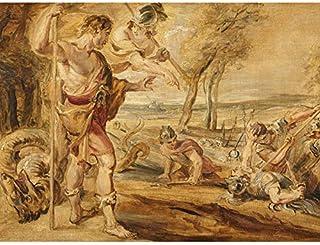 Peter Paul Rubens Cadmus sådd drakar tänder oinramad väggkonst tryck affisch heminredning premium