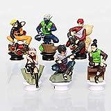 lkw-love 6 Unids/Set Naruto Figuras Uzumaki Naruto Uchiha Sasuke Kakashi Sakura Gaara PVC Figura Juguetes Muñecas 7~10cm