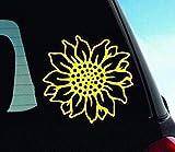 Sunflower Vinyl Decal Car Sticker Sunflower Sticker Sunflower Bumper Sticker Sunflower Car Window Decal Sticker