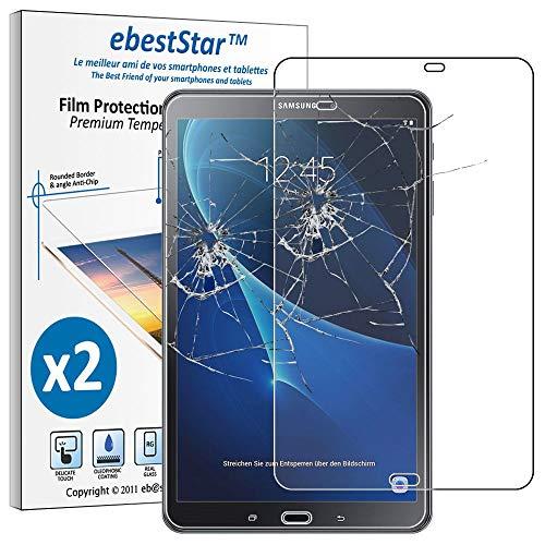 ebestStar - [Pacco x2 Vetro Temperato Compatibile con Samsung Galaxy Tab A6 A 10.1 (2018, 2016) T580 T585 Schermo Pacco x2 Pellicole Anti Shock, Anti Rottura [Apparecchio: 254.2x155.3x8.2mm, 10.1  ]