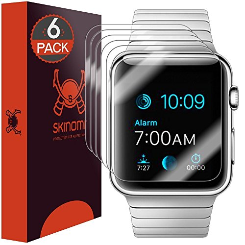 Skinomi TechSkin [6-Pack] Clear Screen Protector for Apple Watch 42mm...