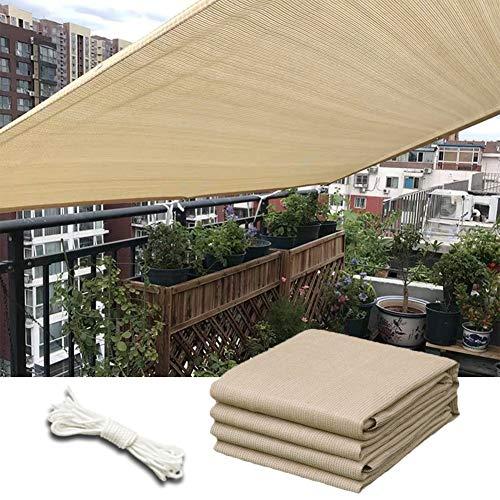 WUZMING Tela De Sombra Solar, Balcón Pantalla De Privacidad, Anti-UV con Agujeros De Metal, por Jardín/Solárium/Patio Sombra, 51 Tamaños (Color : Beige, Size : 300x500cm)