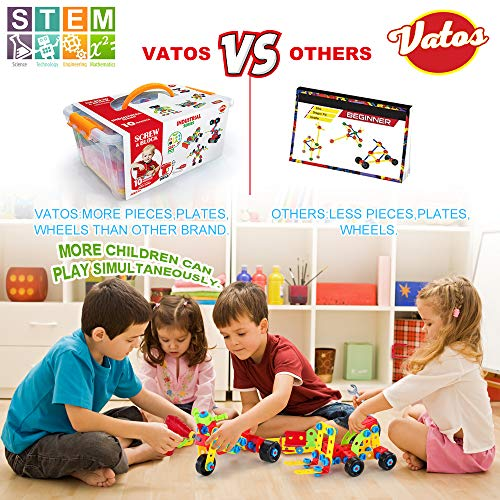 7 8+ Year Old Boys/&Girls Best Toy Gift for Kids  Take-A-Part Building Blocks VATOS Building Toys STEM Toys 552 Piece Creative Construction Engineering Learning Set for 5 6