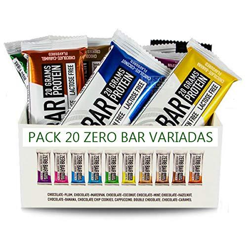 Biotech Zero Bar 50g Pack 20 uds sabores variados
