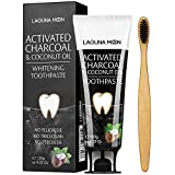 Activated Charcoal & Coconut Oil Teeth Whitening Toothpaste,100% Natural Charcoal Toothpaste for Whitening Teeth, Removing Stains, Mint Flavor Freshen Breath, No Fluoride, No Triclosan, No Peroxide