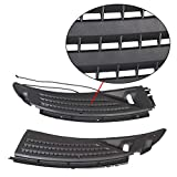 ECOTRIC Pair Front Cowl Panel Grille Vents Windshield Wiper Set w/Seals Compatible with 2009-2014 Ford F150 Replace # BL3Z15022A68A & BL3Z15022A69A Passenger Driver Side