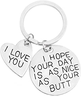 Hope your life is like your keychain boyfriend girlfriend gift key ring I love you boyfriend give girlfriend boyfriend BF ...