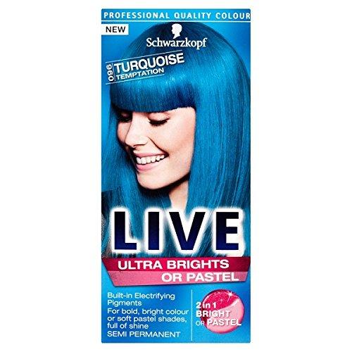 Schwarzkopf Live Color XXL HD High-Definition Ultra Brights Semi-Permanent 96 Turquoise Temptation