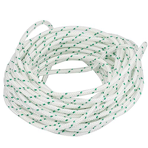 Mannial Recoil Starter Rope 12-Meter, Diameter: 4.0mm, Pull Cord for Husqvarna STIHL Sears Craftsman Poulan Briggs Stratton Lawn Mower Chainsaw Trimmer Edger Brush Cutter Engine Parts