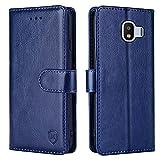 FMPCUON Hülle für Samsung Galaxy J2 Pro 2018 Handyhülle [Standfunktion] [Kartenfach] [Magnetverschluss] Tasche Flip Hülle Schutzhülle lederhülle flip case für Samsung Galaxy J2 Pro 2018 Blau
