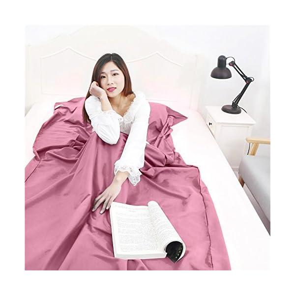 Queta cabaña Saco de Dormir Saco de Dormir Saco de Dormir con Bolsa Ideal para Interior hostels Cabañas albergues… 1
