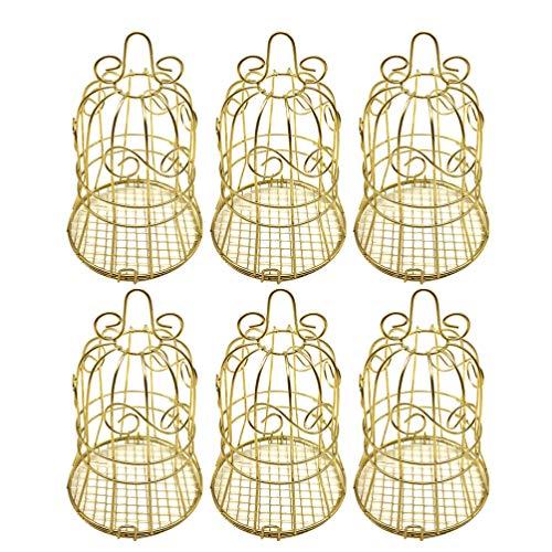 VALICLUD 6 Stück Hochzeitsfeier Begünstigen Boxen Eisen Glockenform Süßigkeiten Boxen Taschen Schokolade Behandeln Geschenkboxen für Hochzeit Brautdusche