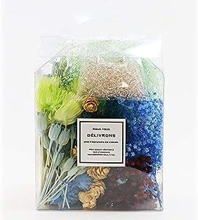 【ローズガーデン ゆめ工房】 おまかせ花箱 寒色系 花材 プリザーブドフラワー ドライフラワー