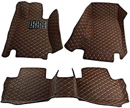 Custom Fit All Weather Heavy Duty Full Coverage Floor Mat Floor Protection [Front and Rear] for 2015 2016 2017 2018 2019 2020 Land Rover Range Rover Sport 5 Seats - Brown Single Layer