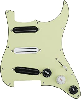 Surfing Mint Green Loaded Pickguard Triple Rails Electric Guitar Pickguard