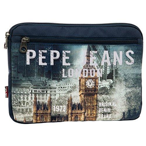 Pepe Jeans Funda para Tablet, Diseño London, Color Azul, 1.22 litros