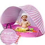 Baby Beach Tent Pop Up, Portable Beach Tent for Baby with Detachable UV