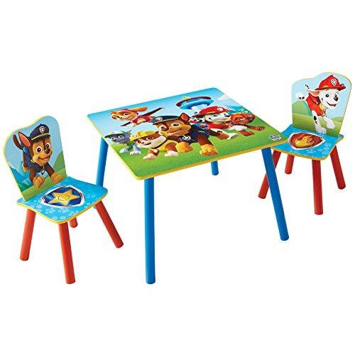 Paw Patrol – set van tafel en 2 stoelen voor kinderen. 63 x 63 x 52.5 cm rood/blauw