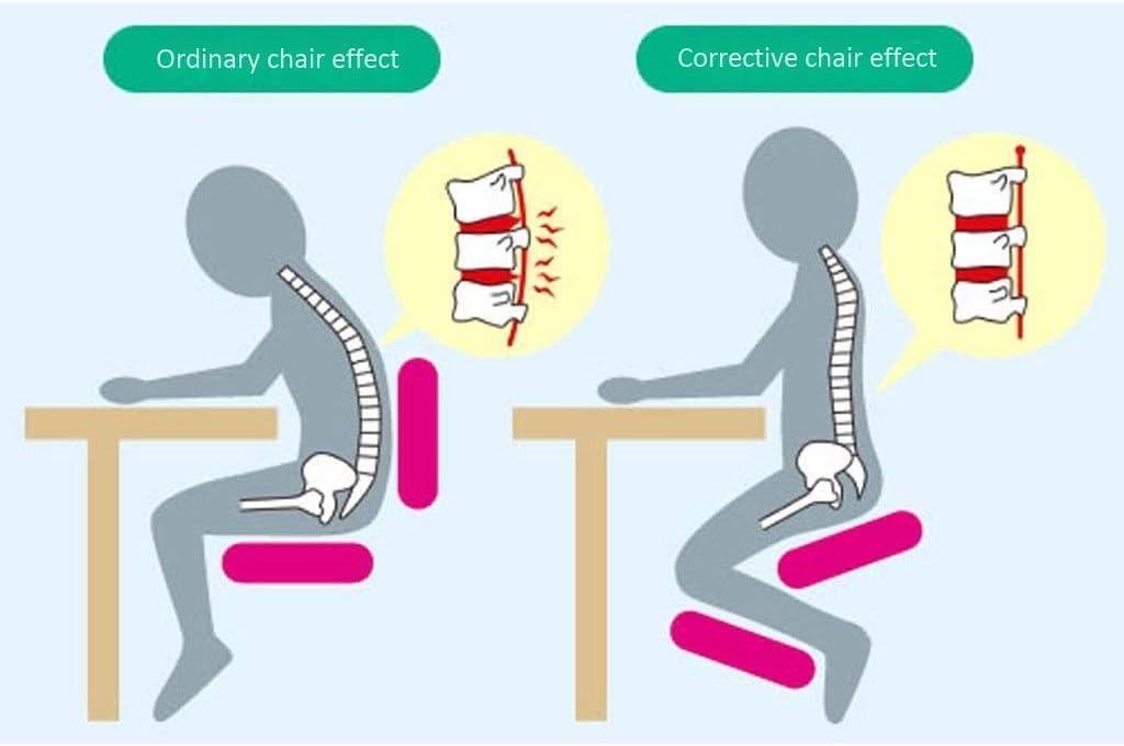 XLGJCWQY Chaises agenouillées ergonomiques réglables en 5 Couleurs Aide à réduire Les maux de Dos Tabouret orthopédique pour Genou (Couleur: Rouge) Blue