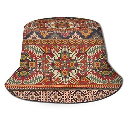 GodYo Kaukasische Art Motive Patchwork Eimer Hut Sommer UV Sonne Fischer Mütze Unisex Für Travel Beach Outdoor