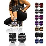 Xn8 Ankle Weights Adjustable Wrist Strap | 0.5kg-3kg Leg Weight Sets for Fitness-Jogging-Walking-Exercise-Gymnastics-Aerobics-Gym-Training (Grey, 0.5kg Pair = (0.5 x 2 = 1kg))