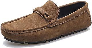 [ヤク] 紳士靴 旅行 ローカット運転靴 カジュアルシューズ メンズ モカシンドライビング 柔らかい スリッポン オシャレ 男性 履き心地 日常 散歩 お出かけ 無地 ローファー ビジネスシューズ 通気 痛くない ビット