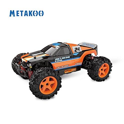 Metakoo RC Auto Fuoristrada ad Alta Velocità 40 km/h 1:24 Scala 50M di Controllo Remoto 40 Minuti Riproduzione Tempi 4WD Veloce Race Truck 2.4GHz Elettrico Buggy Hobby Auto