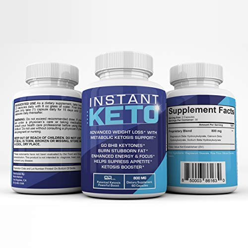 Instant Keto - Advanced Weight Loss with Metabolic Ketosis Support - 800MG - 60 Pills - 30 Day Supply 9