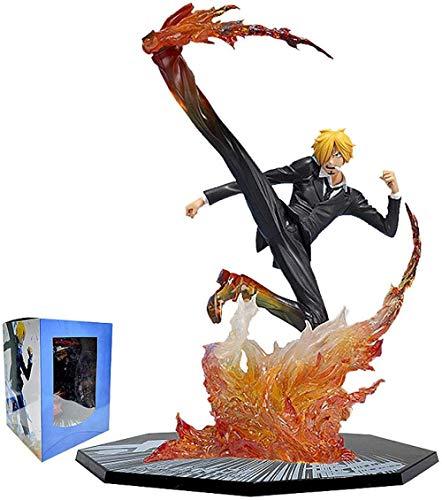 LHLBD Figuras de acción de Sanji de una Pieza de 16Cm, Figura de Estatua de Anime, Figura de Diable Jambe Sanji, colección de PVC, Juguetes, Regalos