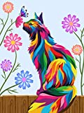 Dydjoy Paint by Numbers for Kids & Beginner , DIY Oil Painting Gift Kits 12 x 16 inch Canvas Framed and Wooden Easel-...