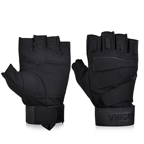 VBIGER Tactical Gloves Military Gloves Shooting Gloves Fingerless...