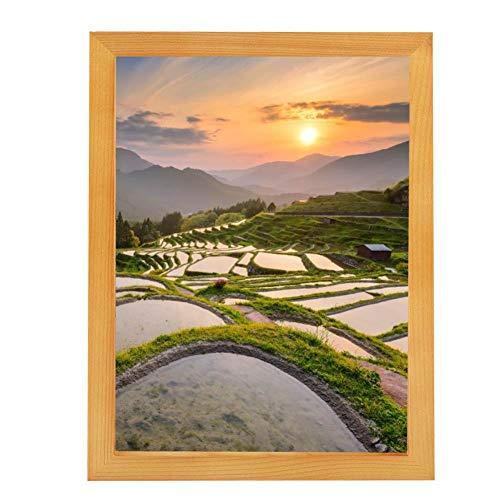 AUNMAS A3 Houten fotolijst met High Definition Glazen Cover Fotolijst Desktop Decor Poster Frame Home Table Decoratie