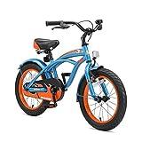 BIKESTAR Bicicleta Infantil para niños y niñas a Partir de 4 años | Bici 16 Pulgadas con Frenos | 16' Edición Cruiser Azul
