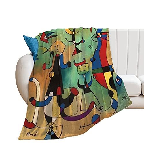 Joan Miro - Mantas de microfibra ultrasuaves para el hogar, sofá, cama, sofá, acogedoras y ligeras para todas las estaciones de regalo, manta impresa en 3D para niños y adultos, 150 x 100 cm