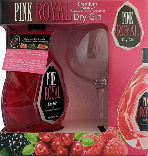 Pink Royal Ginebra Rosa Dry Gin Pack Copa Balón - 700 ml