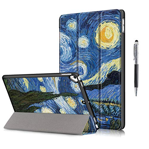 QYiD Case for iPad Pro 10.5 / iPad Air 3, Ultra Slim Lightweight Smart Protective Cover Auto Wake/Sleep with Stylus for iPad Air 3 10.5 Inch 2019 / iPad Pro 10.5 2017 (Starry sky)