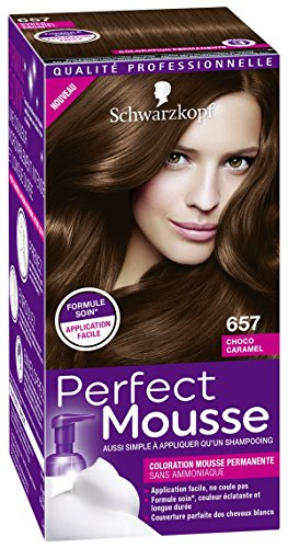 SCHWARZKOPF Coloration Permantente Perfect Mousse - Choco Caramel 657 - 35 ml