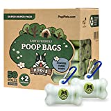 Pogi's Poop Bags - 50 Rolls (750 Dog Poop Bags) +2 Dispensers - Scented, Leak-Proof, Earth-Friendly Poop Bags for Dogs