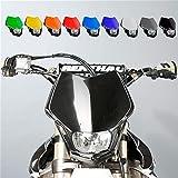 Scheinwerfer Motorrad Lampenmaske V-Face schwarz universal 35/35W + Standlicht