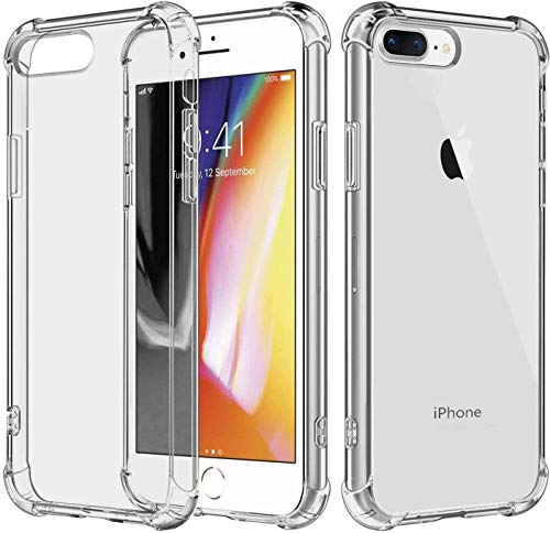 Chirano Case for iPhone 7 Plus and iPhone 8 Plus, Clear, 5.5-Inch, Shockproof Bumper Cover for iPhone 7+/8+