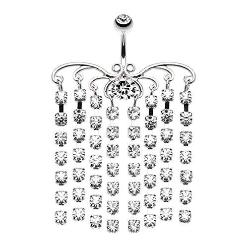 Sparkling Curtain Chandelier WildKlass Belly Button Ring