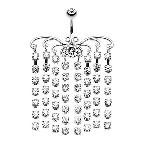Sparkling Curtain Chandelier WildKlass Belly Button Ring
