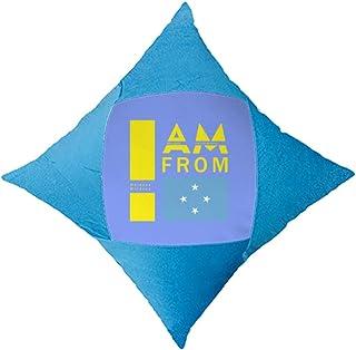 OFFbb-USA I Am from Moldova - Funda de almohada para cama de coche, color azul