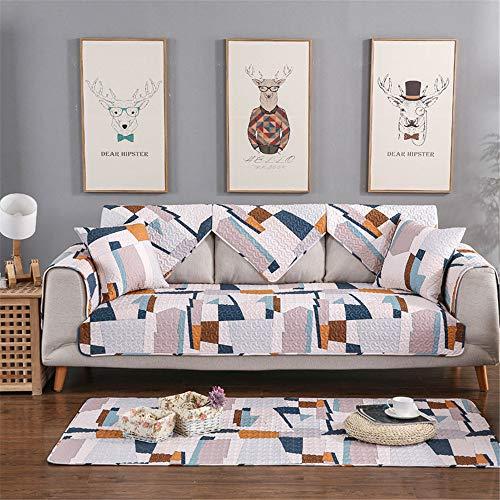 Feixunfan Funda de sofá antiincrustante combinación de piel para sofá funda de algodón para protección del hogar, funda de sofá de tela aterciopelada (tamaño: 90 x 240 cm)