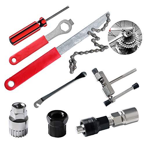 ECHOAN Fahrrad-Multitool, 8-in-1 Fahrrad Reparatur Werkzeug Sets, Fahrrad Kette Entfernungs Werkzeuge,Kassette Removal Tool
